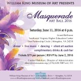 William King Museum of Art - Masquerade Art Ball 2016 Image 1